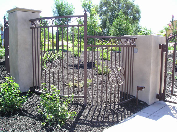 Brown Iron Fence