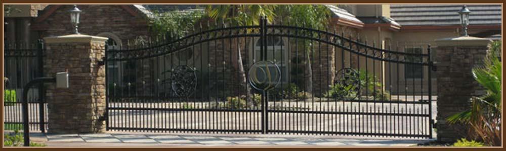 Iron driveway gates sacramento remote entry keypad