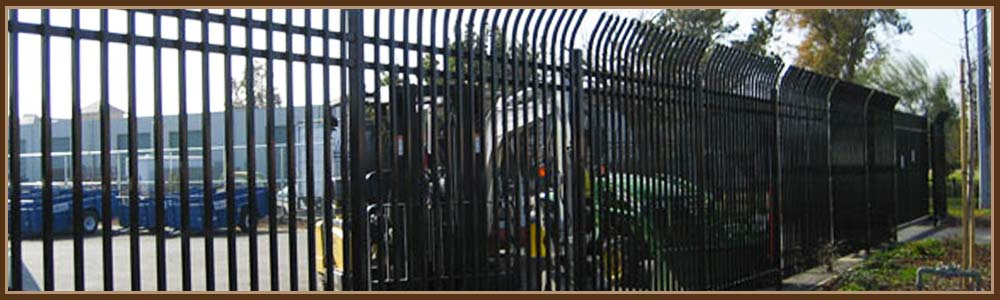 Commercial security fence chain link iron